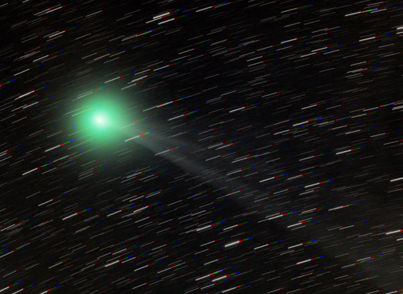 Comet Lemmon near the South Celestial Pole