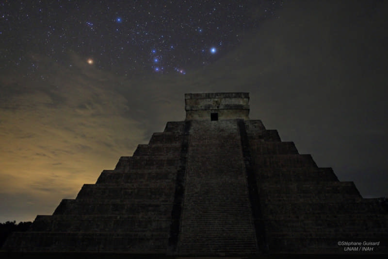 Orion over El Castillo