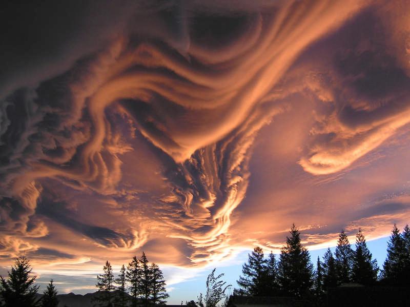 Asperatus Clouds Over New Zealand