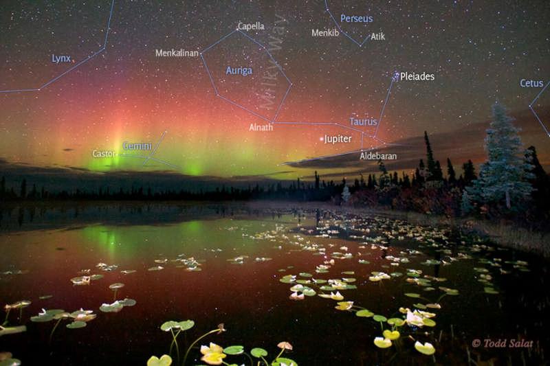Reflected Aurora Over Alaska