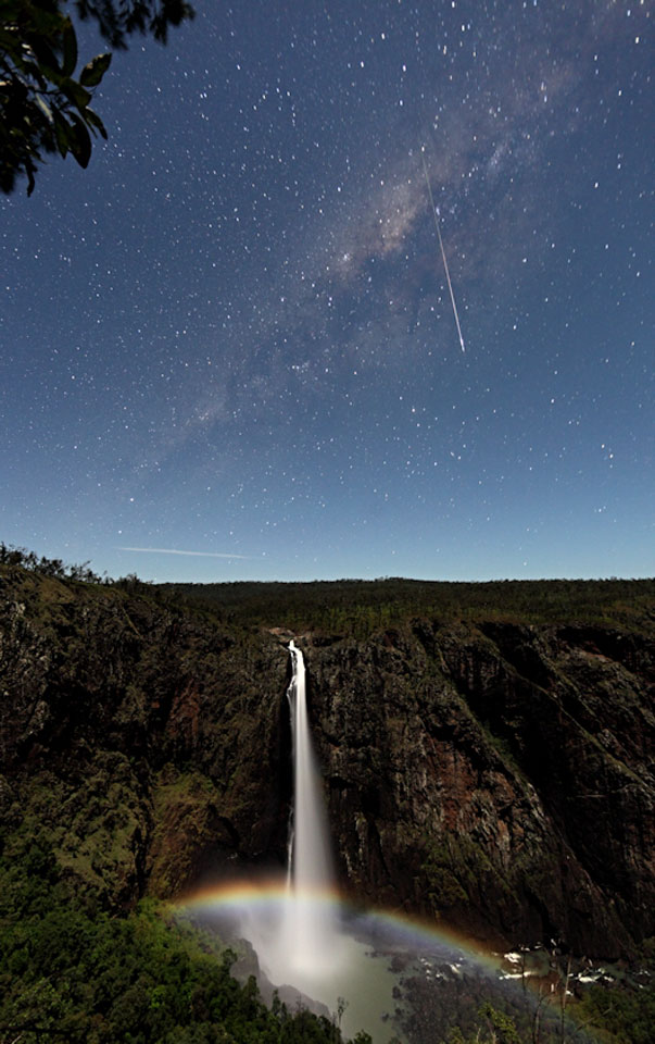 Meteor and Moonbow over Wallaman Falls