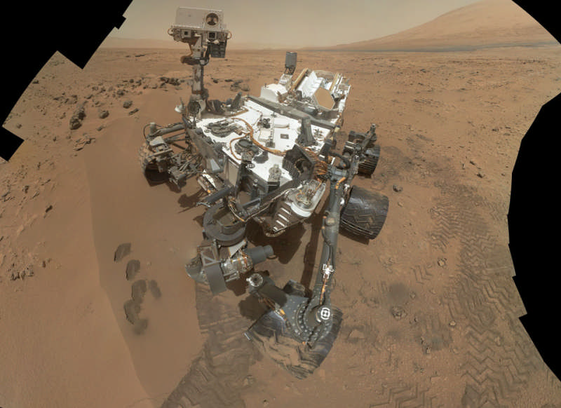 Curiosity Rover at Rocknest on Mars